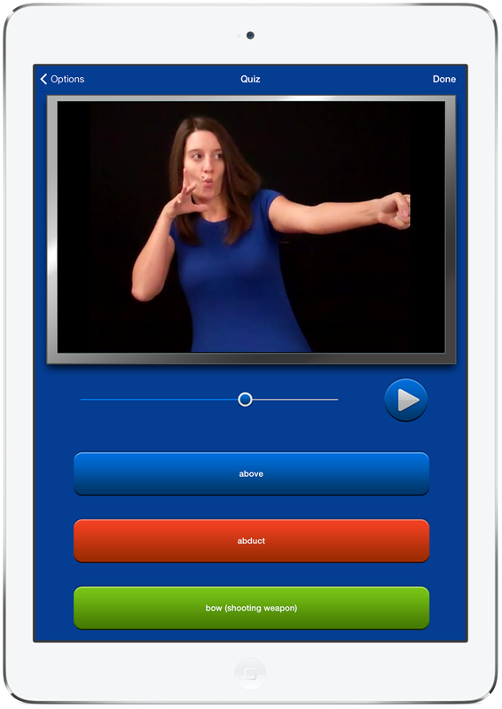 Quiz iPad Sign Language Dictionary HD